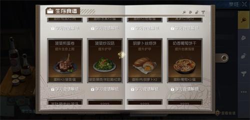 黎明觉醒菠菜炒双菇食谱配方一览