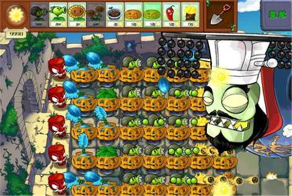 植物大战僵尸长城版游戏场景真实截图