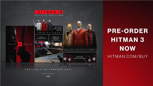杀手3公布发售预告 游戏将于1月20日上线
