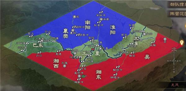 三国志战略版华为版游戏地图分立图示