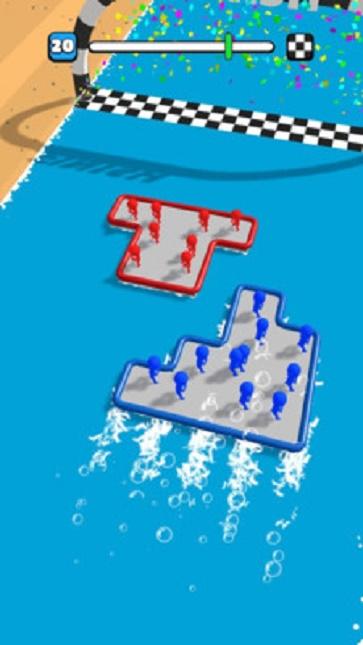 木筏战斗游戏画面