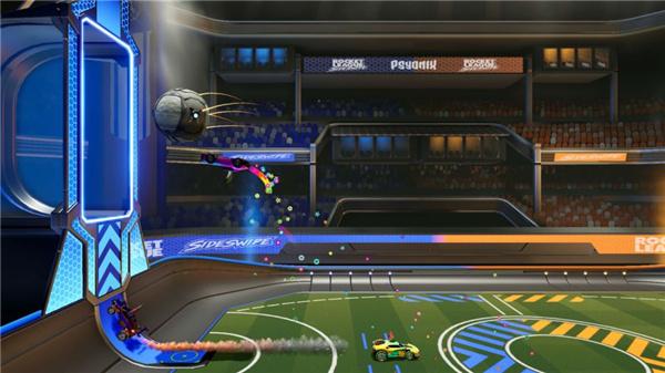 火箭联盟擦边撞击游戏画面