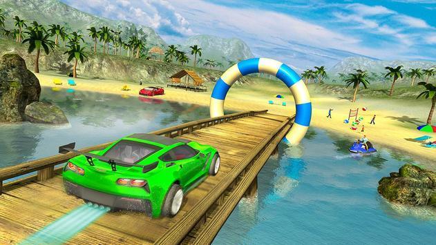 水中漂浮汽车