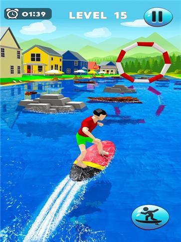 疯狂的水上冲浪特技游戏场景截图