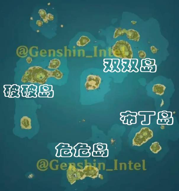 原神1.6海岛地图一览