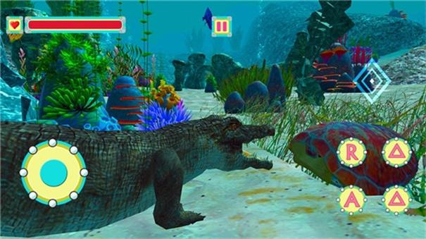 水下鳄鱼模拟器捕食场景
