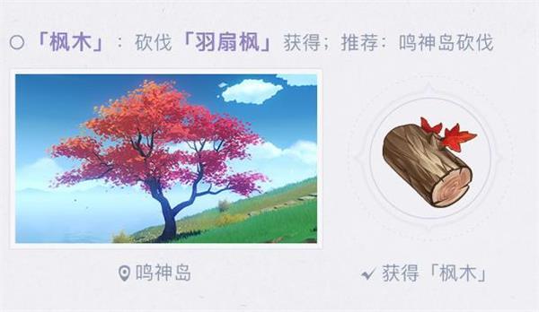 原神枫木位置一览