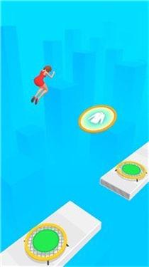 跳跃的女孩3D游戏场景