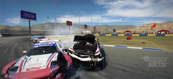Grid超级房车赛撞车场景