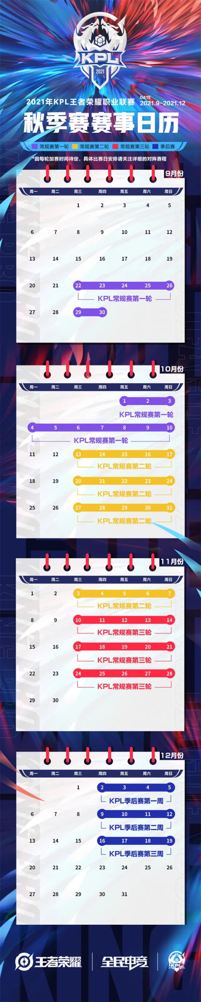 2021王者荣耀KPL秋季赛赛程赛制一览