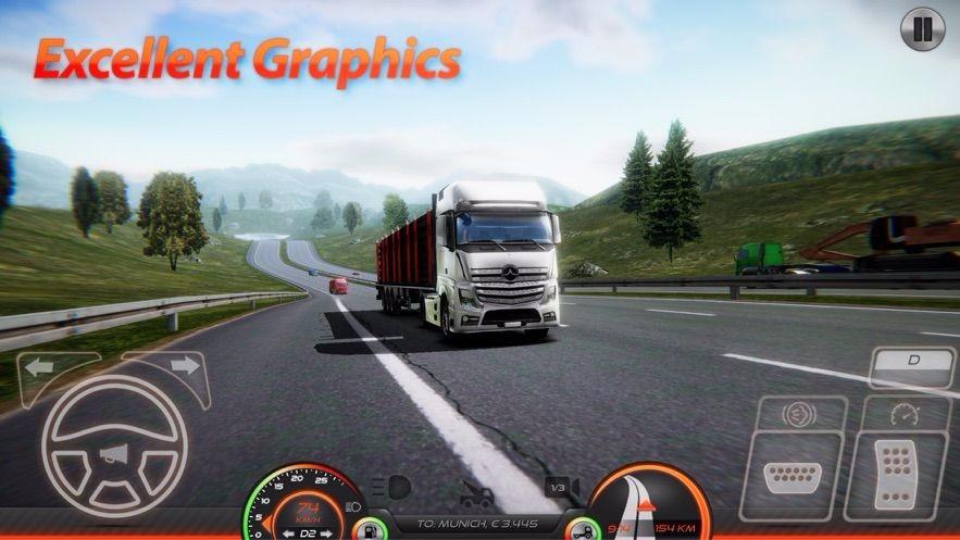 卡车模拟器:欧洲2截图1