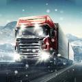 冬季卡车驾驶员模早晨拟器