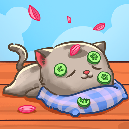 可愛的貓咪花園