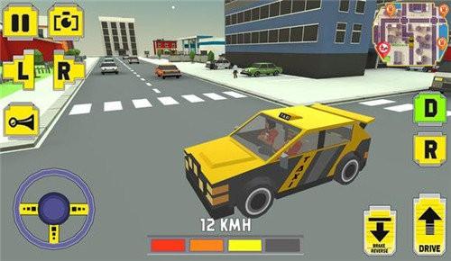 疯狂小镇的终极出租车驾驶司机截图1