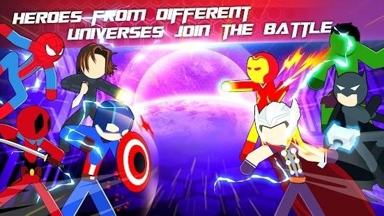 超级斯蒂克曼英雄战斗截图2