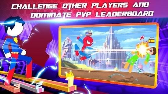 超级斯蒂克曼英雄战斗汉化版截图2