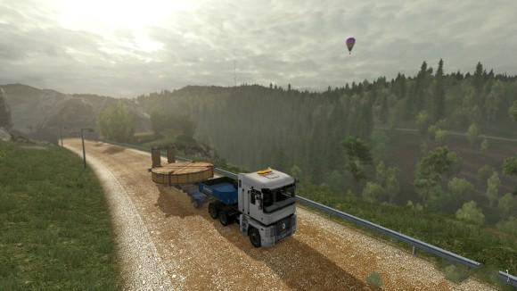重卡山路模拟驾驶游戏拉木条截图3