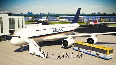 飞行模拟器3D中文版截图1