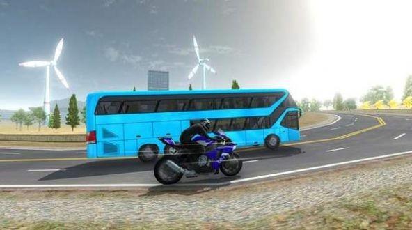 高速巴士vs摩托车游戏截图3