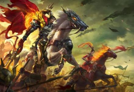 骑马带兵打仗的游戏