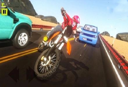 经典怀旧的摩托车闯关