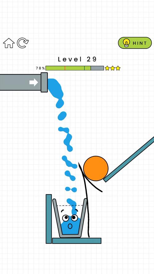抖音上画线让水杯装满的游戏截图2