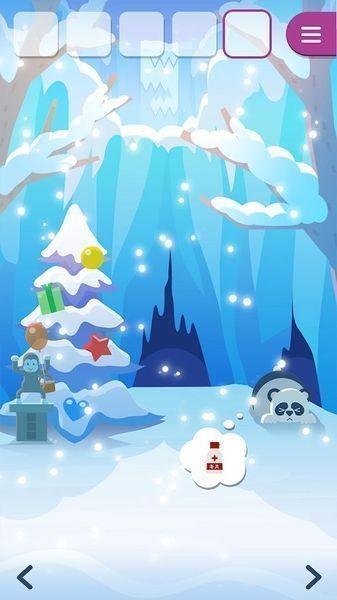 动物们与下雪的岛截图2