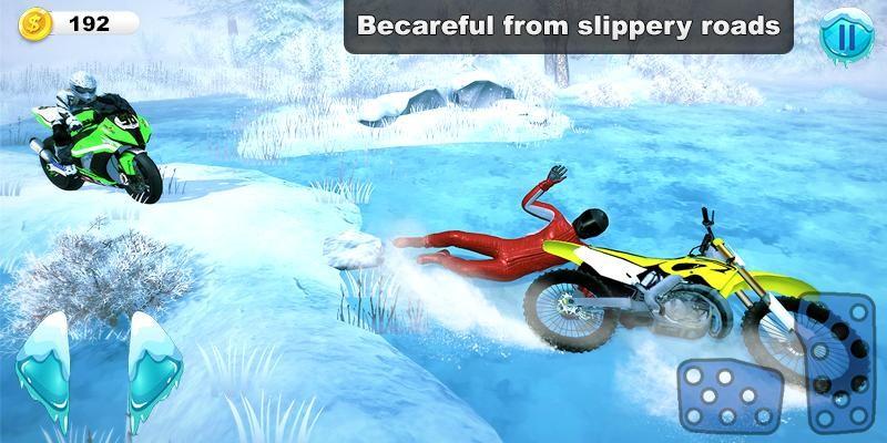 雪地摩托越野3D截图1
