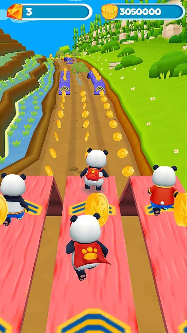 熊猫跑步冒险截图1