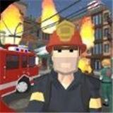 逼真的城市消防员