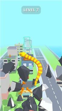 贪吃蛇摧毁城市截图3