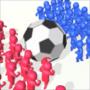 拥挤的足球