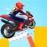 超级英雄绘画摩托