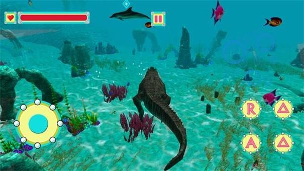 水下鳄鱼模拟器截图1