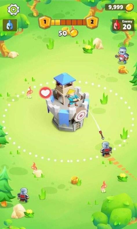 自动竞技城堡塔防截图3