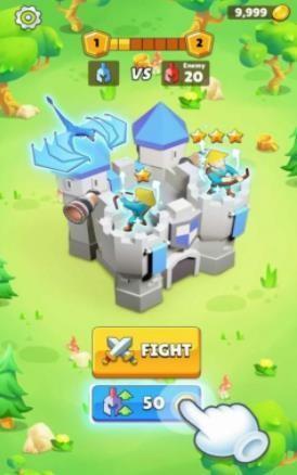自动竞技城堡塔防截图1