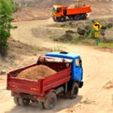 卡车司机山地运输驾驶